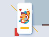 pastiche typography logo 4d illustration