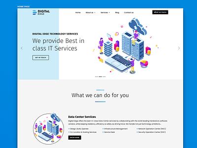 Digital Edge Website Preview wordpress minimalistic website design website