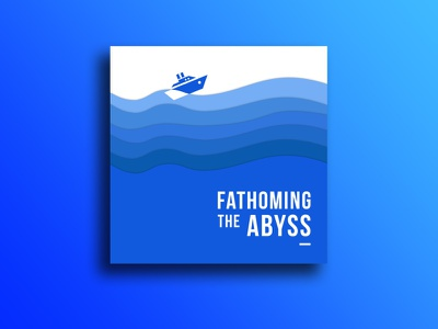 just a little poster calm ocean boat abyss mockup logo poster