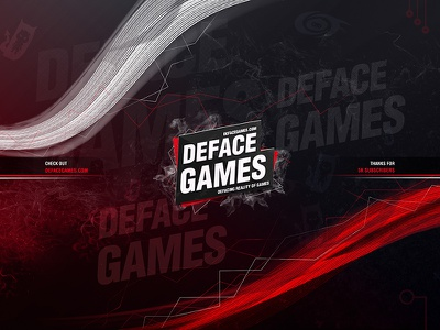Red Doom Gaming YouTube Cover gaming website gaming cover gaming youtube cover