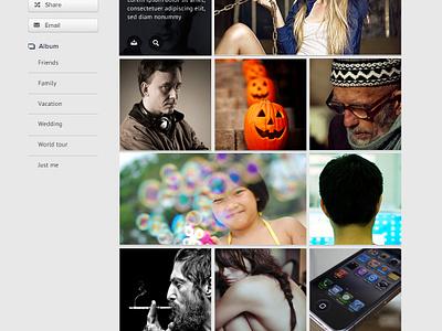 Collector Photo Gallery  ui interface design collector identity website design