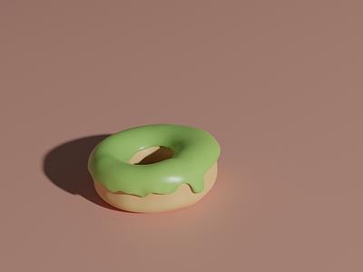 Donut food blender 3d