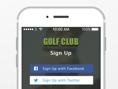 Golf Club - Sign Up Form