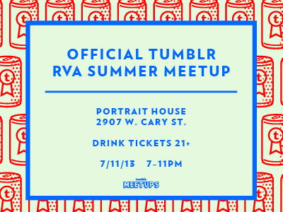 Richmond Meetup Invitation flyer. typography illustration beer tumblr verlag