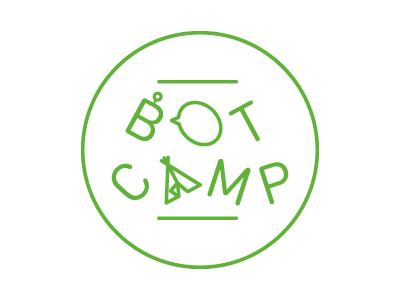 Betaworks' botcamp logo tent camp illustration din betaworks slack bot