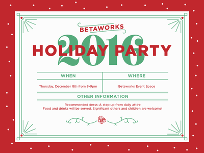 betaworks holiday party 2016 escafina gotham typography holiday