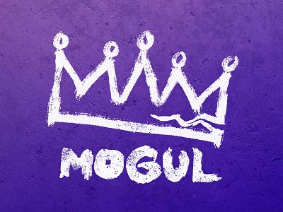 Mogul podcast art brush paint painting concrete gimlet podcast
