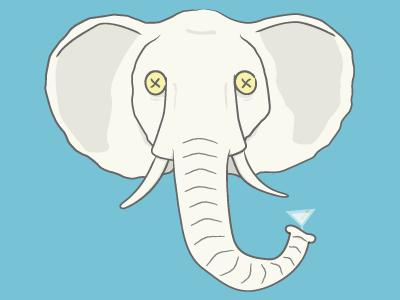 White Elephant christmas white elephant illustration cartoon
