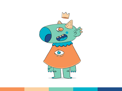 100things | 011 monster challenge ps photoshop cartoon character design illustration
