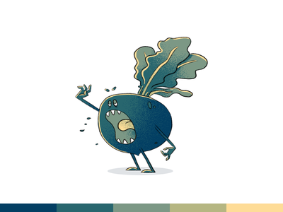 100things | 046 vegetable monster challenge ps photoshop cartoon character design illustration