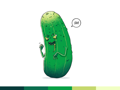 100things | 050 vegetable monster challenge ps photoshop cartoon character design illustration