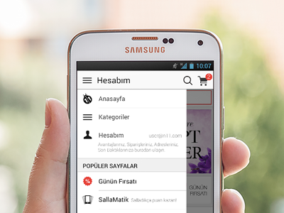 Account menu for Android mobile design ui android interface application ux layout account menu