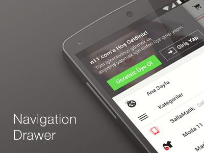 Navigation Drawer Design android design left menu login navigation android mobile design