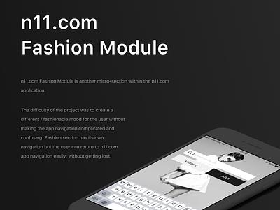 N11 Fashion Module user interface mobile app design mobile design app ios design ui