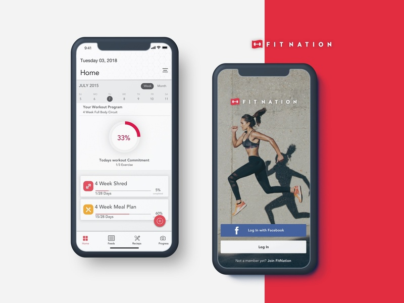 FitNation: Workout & Meal Plan user experience user inteface ux design ui-design workout app feeds dashboard recipe diet health gym exercise mealplan workout fitness
