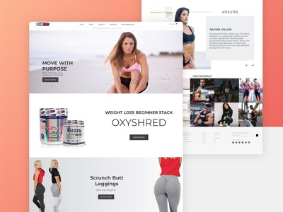 Ehplabs - Website Redesign oxyshred recovery performance muscle fat loss shape tone shop fitness exercise workout website design