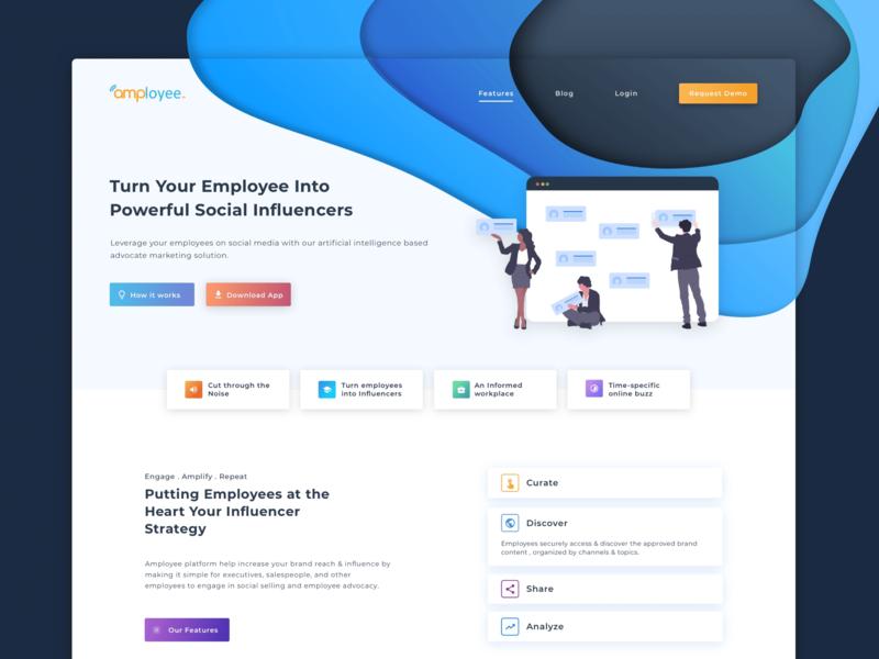 Amployee - Employee Communication and Engagement design socialmedia marketing reward benefit employee