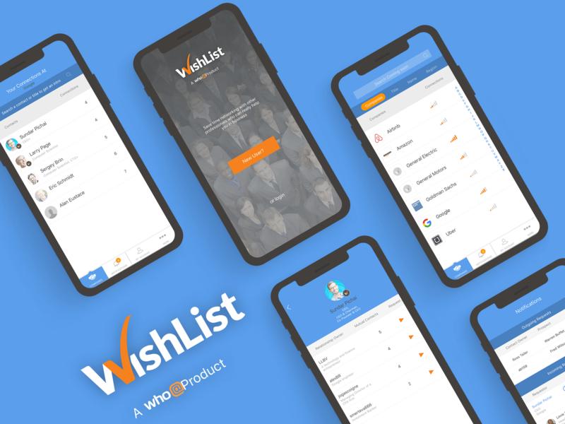 WhoAt WishList animation design ios android networking wishlist socialmediamarketing business app