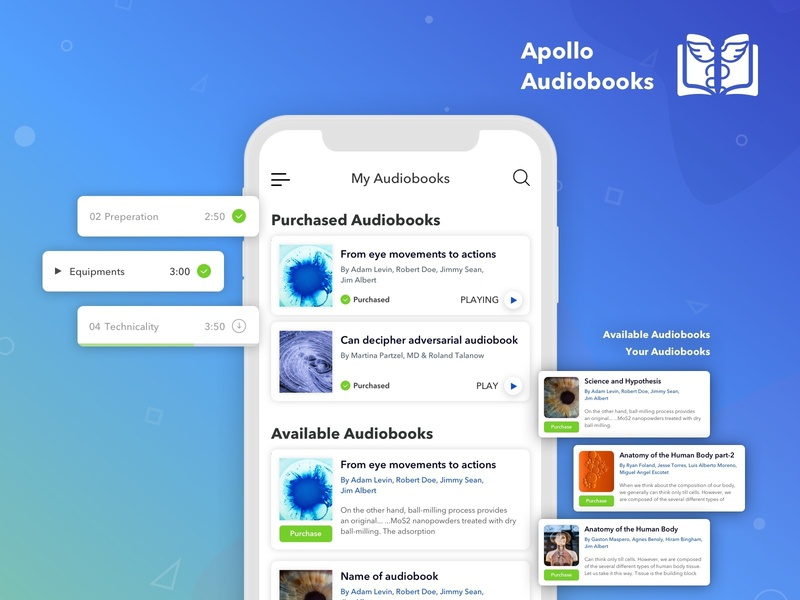 Apollo Audiobook by Root Info Solutions on Dribbble