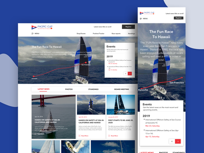 Pacific Cup sea footer header responsive web design web fun race boat oahu kaneohe bay 2020 pacific pacific cup sailing san francisco hawaii racers fun boat race race