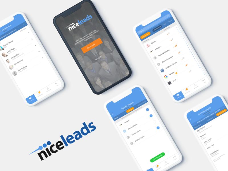 Niceleads socialmediamarketing animation business app niceleads networking ios design android