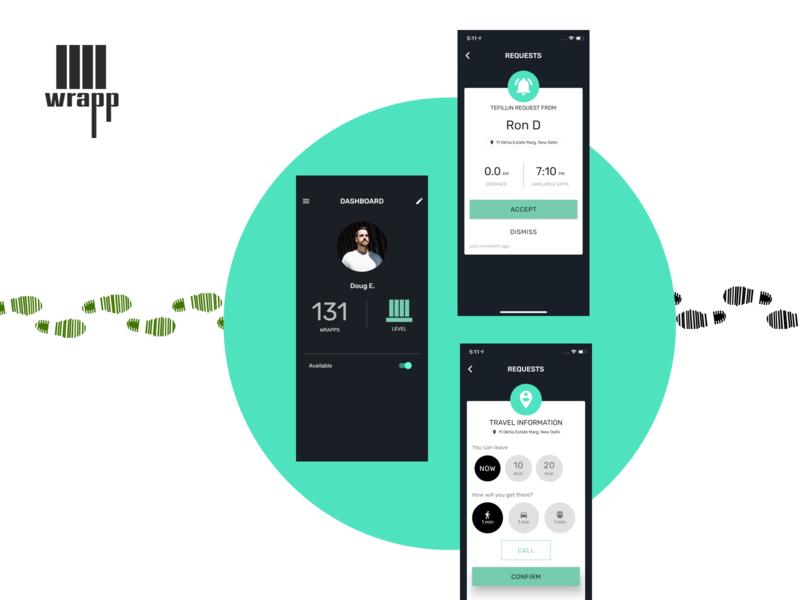 Wrapp app branding ios logo app design ui  ux wrapp tefillin profile localization language notification messaging geolocation provider meetup