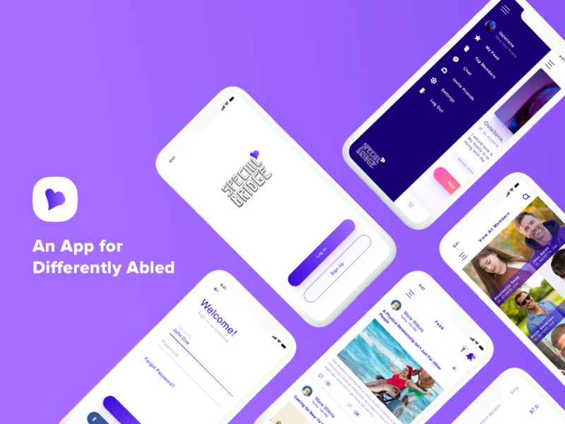 Special Bridge design logo branding android feeds add chat uiux clean appdesign ui minimalistic disable special dating ios