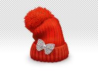 地摊擀毡毛线帽子
