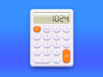 Calculator freebie PSD icon calculator