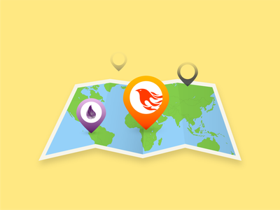Illustration - How to use Google Maps with Phoenix LiveView google maps illustration blog post blog phoenix elixir vector illustrator