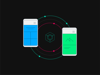 Illustration for 'Android Jetpack Compose – Navigation' navigation vector illustrator illustration mobile android jetpack compose