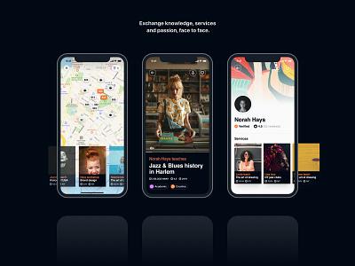 Seya – User interface app mobile app mobile user experience ux user interface ui