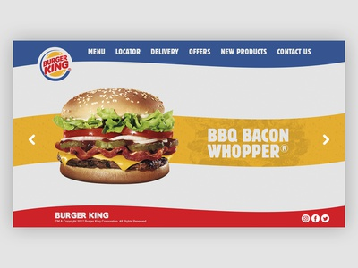 Burger King Web Design burger king web deisgn adobe ilustrator adobe photoshop adobe