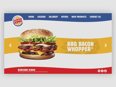 Burger King Web Design