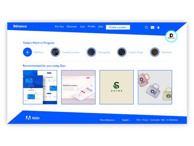 Web Design for Behance