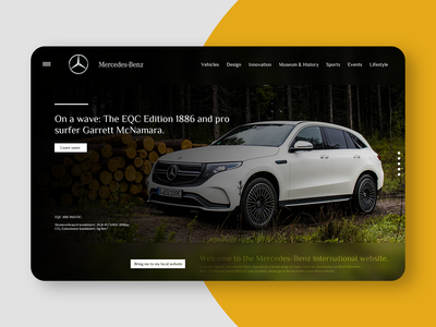 Mercedes-Benz Web Design