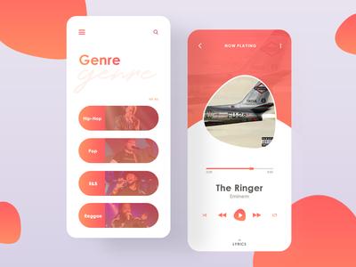 Music Player UI Design Concept