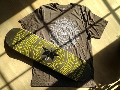 TSU Firefly Deck and Shirt illustration firefly shirt tshirt skate skatedeck geometric