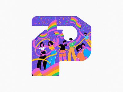 P 2020 pride branding typography 36daysoftype design art illustration