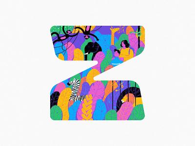 Z zebra zoo 2020 branding typography 36daysoftype design art illustration