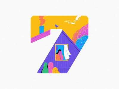 7 2020 numbers 7 logo ui branding typography 36daysoftype design art illustration