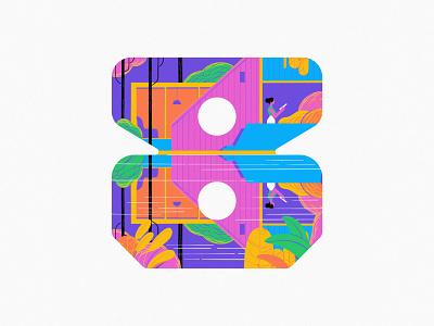 8 2020 8 icon ux ui vector branding logo typography 36daysoftype art illustration