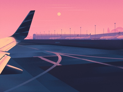 Lockdown lifestyle corona lockdown airport design art illustration