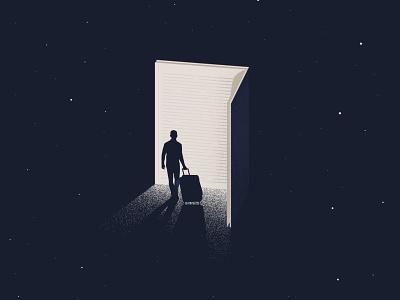 Book your Journey readalert travel life reading book minimalist design art illustration