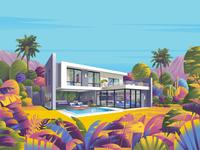 Villa villa sajid resort jebal architecture illustration
