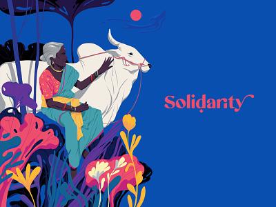 Solidarity kerala india standwithfarmers sajid design art illustration