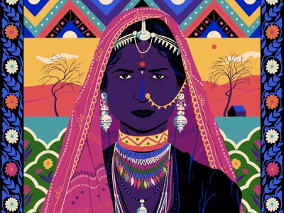 Rajasthan sajid india design art illustration