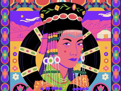 Mongolia people mongolia sajid design art illustration