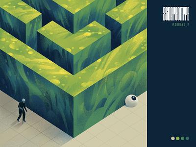 V green maze sajid typography 36daysoftype design art illustration