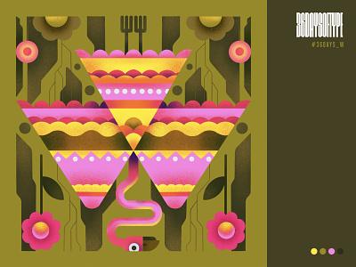 W w sajid typography 36daysoftype design art illustration